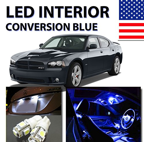 genssi bright blue led lights interior package 5pc kit for dodge charger 2006 2010 auto parts. Black Bedroom Furniture Sets. Home Design Ideas