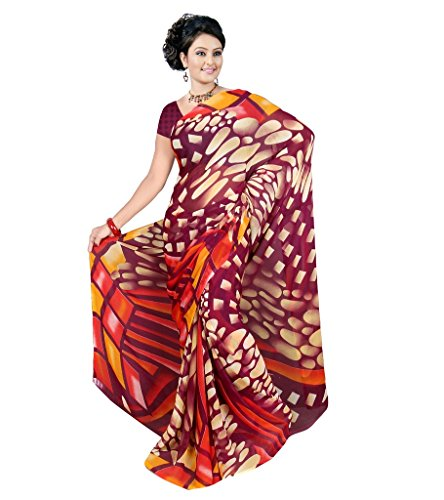 Fancy Weightless Georgette Printed Sarees With Blouse GF55