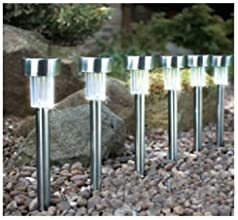 Solar Power LED Landscape Outdoor Garden Path Color Stainless Spot Light Lamp