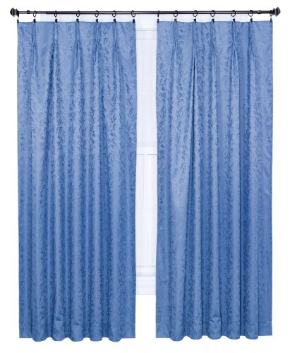 Ellis Curtain Dover Damask Woven Scroll Thermal Insulated Pinch Pleated Curtains 144 By 84 Inch