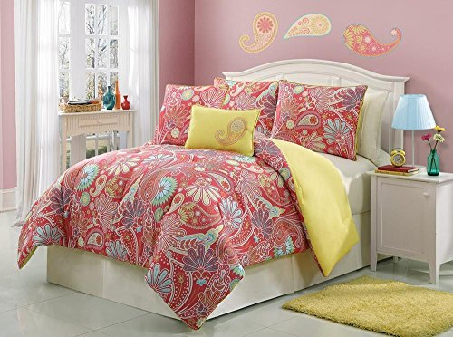 Girls/Teen Paisley Print Comforter Set (Twin Size) front-62611