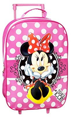 Minnie Mouse Wheeled Travel Trolley Bag Luggage - Great For Holidays from New World Toys