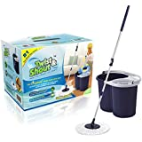 2015 Newest Twist and Shout Mop - Award Winning Newest Version Spin Mop Driven By Hand Push (No Foot Pedal) - Original Inventor - 100% Quality Guarantee