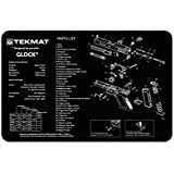 TekMat 11-Inch X 17-Inch Handgun Cleaning Mat With Glock Imprint, Black By TekMat