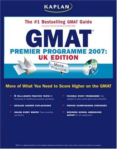 Kaplan GMAT: Premier Program: Graduate Business School Admissions Exam (Kaplan GMAT Premier Program (w/CD))