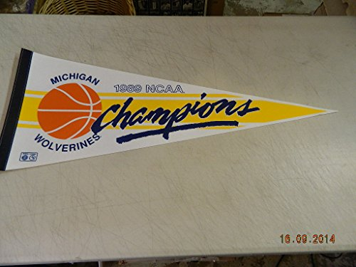 Stunning Vintage University Michigan Wolverines 1989 NCAA Champions NCAA Logo