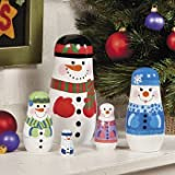 Nesting Snowman Family - Party Decorations & Room Decor