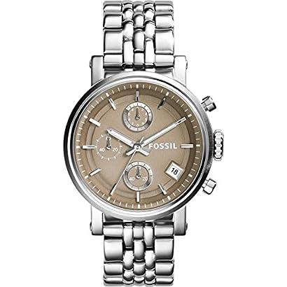 Fossil Women S Es3747 Original Boyfriend Chronograph Stainless Steel Watch Nnzhkwut 38