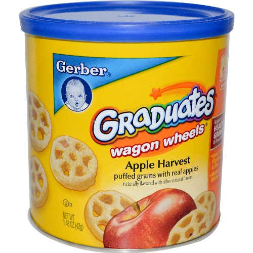 Gerber, Graduates Finger Foods, Apple Waggon Wheels, 1.48 oz (42 g)