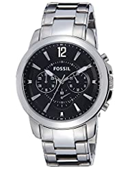 Fossil Grant Analog Black Dial Men's Watch - FS4913