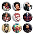 Bruno Mars Pinback Buttons Pin Badges 1 Inch (25mm) - Pack of 9