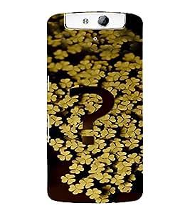 PrintVisa Modern Art Flower Question 3D Hard Polycarbonate Designer Back Case Cover for Oppo N1