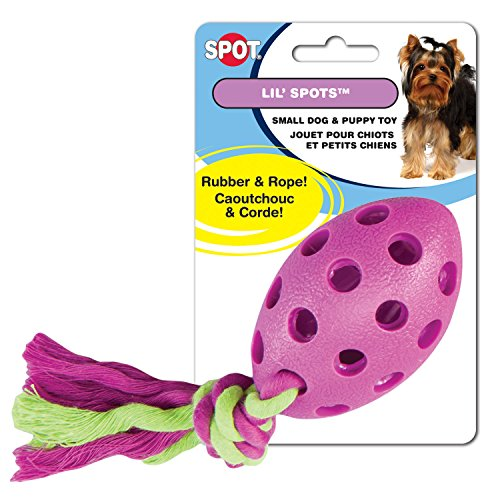 Ethical Pets Lil Spots Rubber Football with Rope Puppy and Small Dog Toy (Puppy Football compare prices)