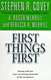 Book cover for First Things First