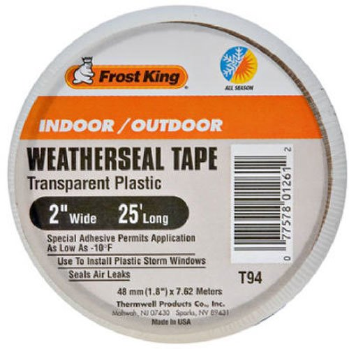 frost-king-t94h-clear-plastic-weather-seal-tape-2-inch-by-25-feet-clear