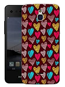 """Meaningful Hearts Printed Designer Mobile Back Cover For """"Google Infocus M350"""" By Humor Gang (3D, Matte Finish, Premium Quality, Protective Snap On Slim Hard Phone Case, Multi Color)"""