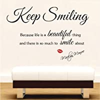 see Decals MARILYN MONROE Wall Sticker Vinyl wall art Inspirational quotes and saying home decor decal sticker by Newsee Decals