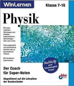Physik, Klasse 7-10, 1 CD-ROM Der Coach für Super-Noten. Abgestimmt auf die Lehrpläne der Bundesländer. Für Windows 95/98/ME/XP