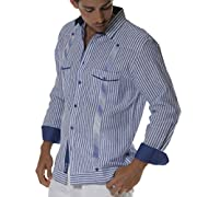 Striped Modern Guayamisa Shirt.