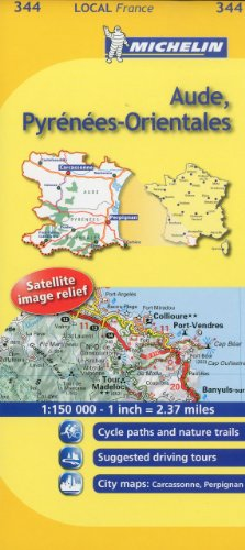 Michelin Map France: Aude, Pyrnes-Orientales MH344 (Maps/Local (Michelin)) (English and French Edition)