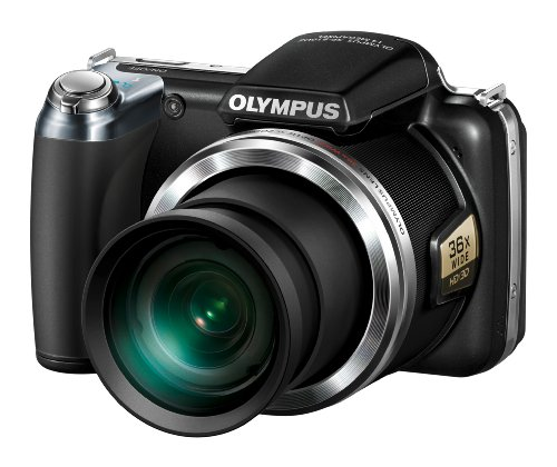 Olympus SP-810UZ Compact Digital Camera - Black (14.0MP, 3.0 inch TFT, 36 x Wide Optical Zoom)