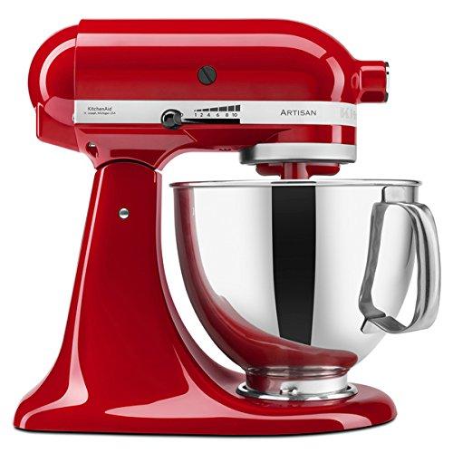 KitchenAid RRK150ER Empire Red 5-quart Artisan Tilt-Head Stand Mixer (Refurbished) (Rival Stand Mixer Bowl compare prices)
