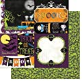 BoBunny Fright Delight Spooky Halloween Scrapbook Paper