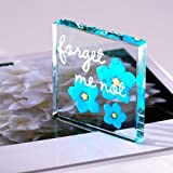Spaceform Miniature Glass Token Hilary Forget Me Not