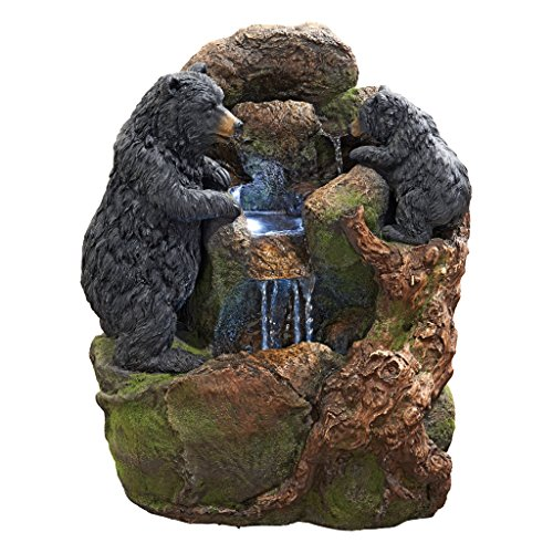 Design Toscano Grizzly Gulch Black Bears Sculptural Fountain (Bear Fountain compare prices)