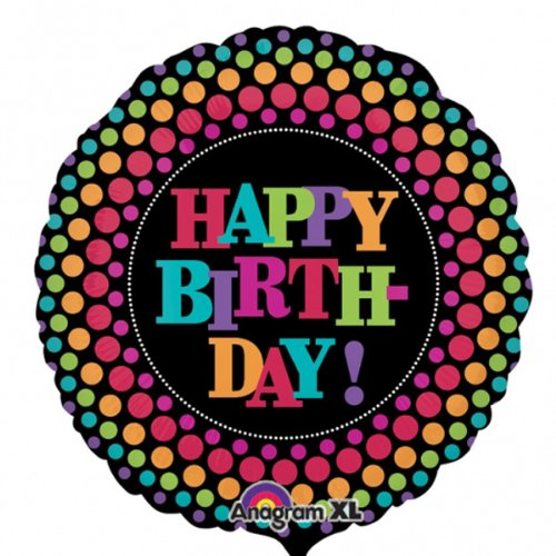 "Anagram International Party on Birthday Jumbo Balloon, 32"", Multicolor"