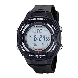 Casio Women's LWS200H-1ACF Solar Runners 120-Lap Black Digital Sport Watch