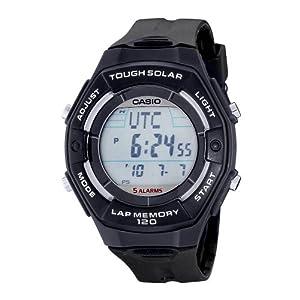 Casio Women's LWS200H-1ACF Solar Runners 120-Lap Black Digital Sport Watch
