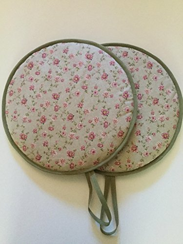 Pair of Cottage Chic Vintage Floral Kitchen Range Cooker Hob Lid Covers Hob Top Pads