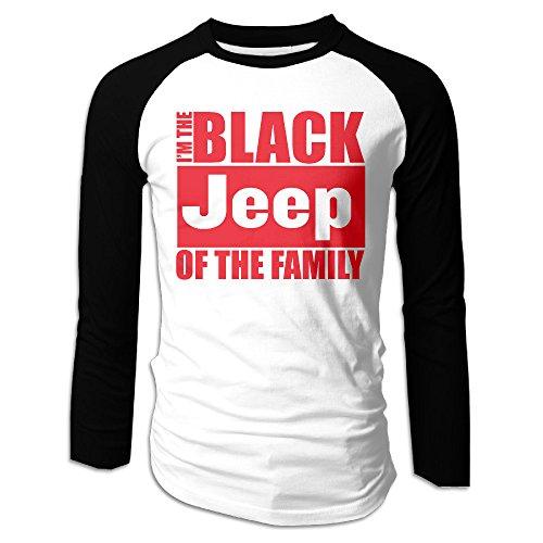 The Black Jeep Of The Family Men's Full Sleeve Baseball Shirt