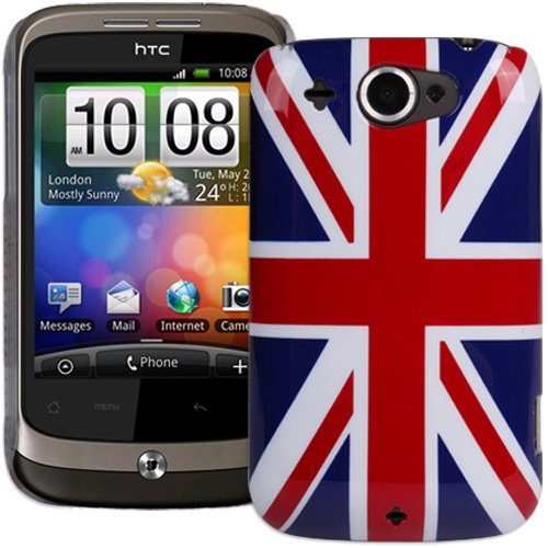 Super Slim Union Jack XYLO-Shell Hard Back Cover Case for the HTC Wildfire Mobile Phone.