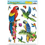 Tropical Bird Clings Party Accessory (1 count) (11/Sh)