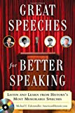 Great Speeches For Better Speaking (Book + Audio CD): Listen and Learn from History s Most Memorable Speeches