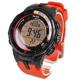 CASIO カシオ PRO TREK プロトレック メンズ 腕時計 電波ソーラー デジタル PRW-3000-4DR オレンジ 海外モデル 並行輸入品 [時計]