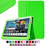 Fintie Slim Fit Folio Case Cover for Samsung Galaxy Tab 2 10.1 inch Tablet - Green by Fintie