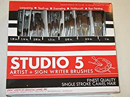 Lot 12 Dozen -144 Paintbrushes - Camel Hair Art Paint Brush, 7 Sizes