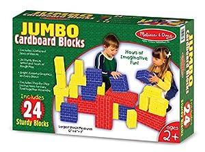 Melissa & Doug 24 Pc Basic Cardboard Blocks