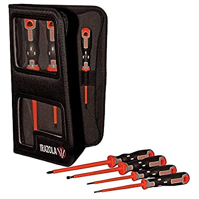 Irazola 7pc Insulated Tekno+ Plus Aislo Screwdriver Set with Carry Case - Rated to EN60900 1000V AC