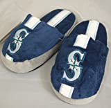 Seattle Mariners Youth Team Stripe Plush Slippers Amazon.com