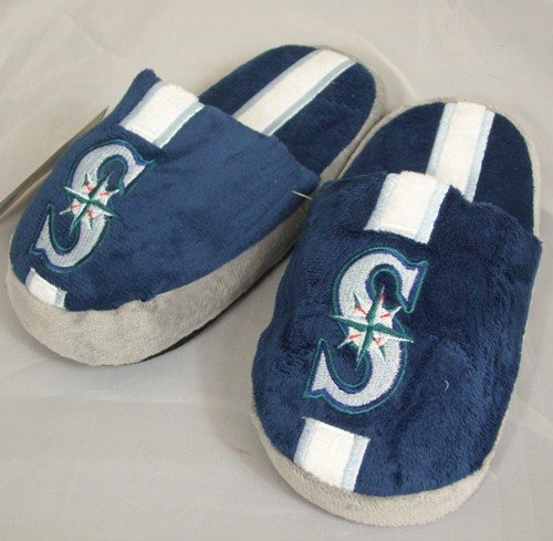 Seattle Mariners Youth Team Stripe Plush Slippers at Amazon.com