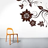 Decal Style Corner Swirl Wall Sticker Large Size-34*29 Inch - B00WSNGYSY