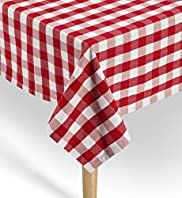 Pure Cotton Gingham Checked Dining Tablecloth