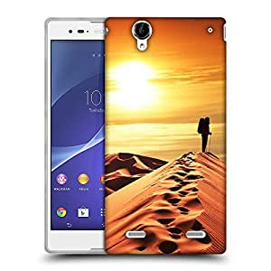 Snoogg desert sunset Designer Protective Back Case Cover For Sony Xperia T2 Ultra