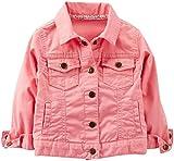 Carters Little Girls Denim Jacket (Toddler/Kid) - Coral