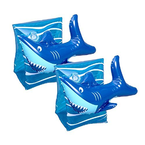 3D Arm Floats- Shark Blue - 1