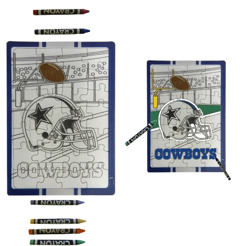 Dallas Cowboys Children Fun Color Your Own Puzzle Set